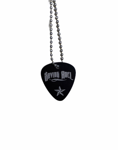 Saving Abel Black Guitar Pic Necklace