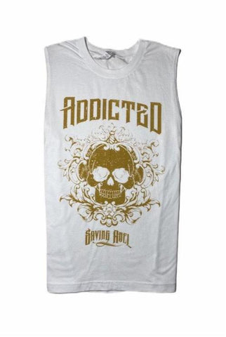 Addicted White Sleeveless