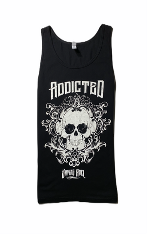Addicted Black Tank Top