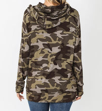 Load image into Gallery viewer, Camouflage Hoodie with Kangaroo Pocket - CeCe Fashion Boutique