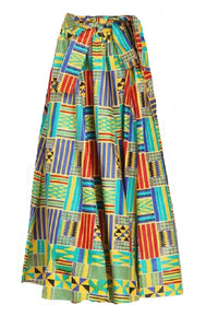 Maxi Ankara Wax Cotton Skirt - Style IZI - CeCe Fashion Boutique