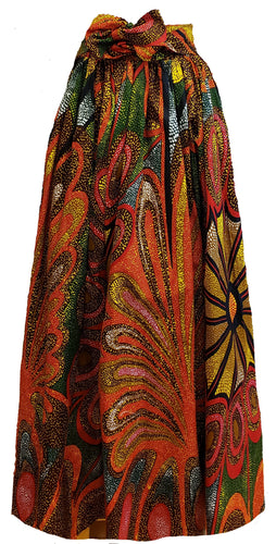 Coral Maxi Ankara Wax Cotton Skirt - CeCe Fashion Boutique