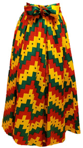 Gheena Maxi Ankara Wax Cotton Skirt - CeCe Fashion Boutique