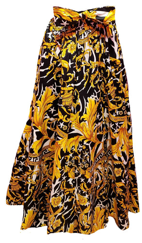 Yasmine Maxi Ankara Wax Cotton Skirt - CeCe Fashion Boutique