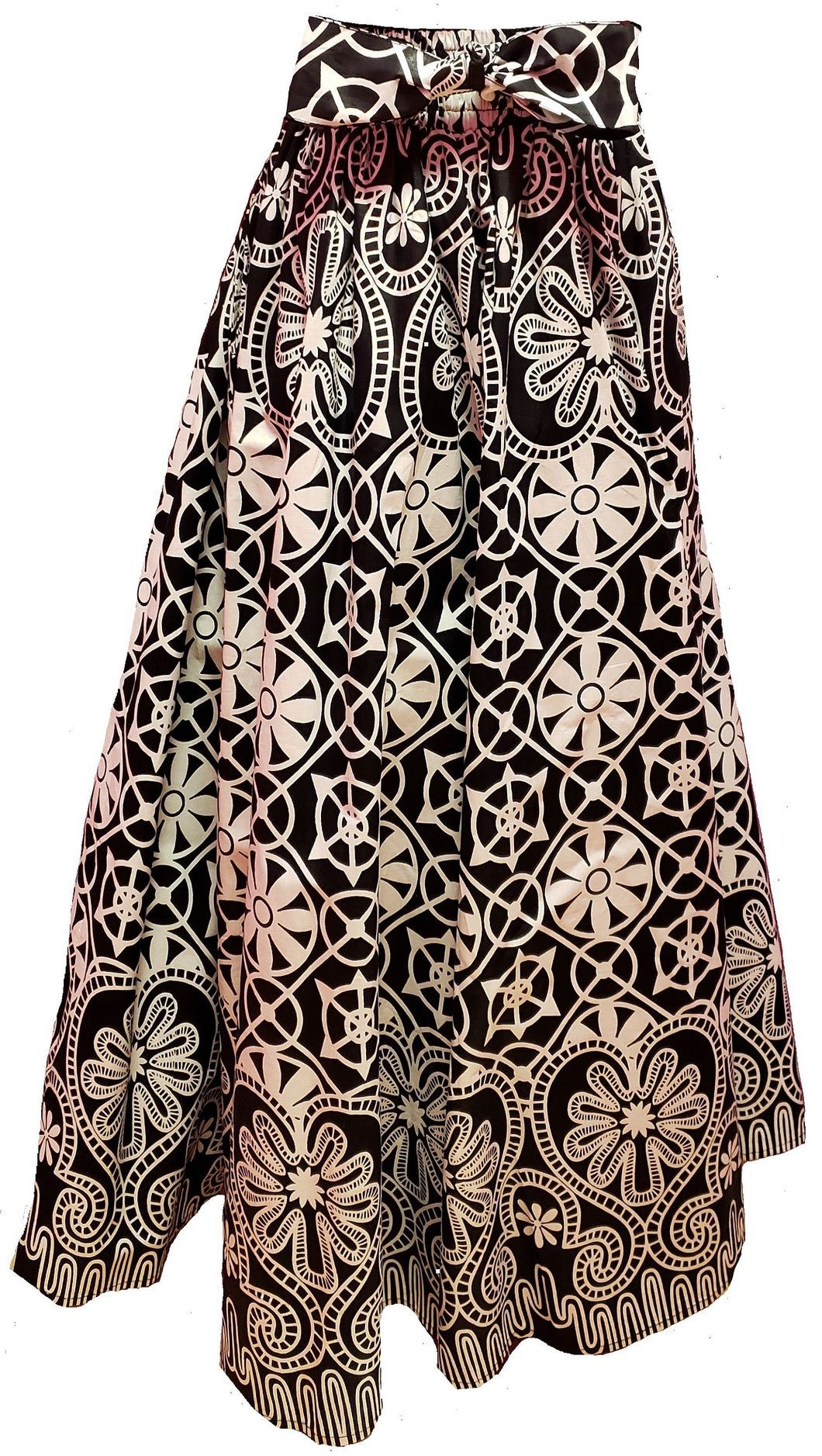 Flora Maxi Ankara Wax Cotton Skirt - CeCe Fashion Boutique