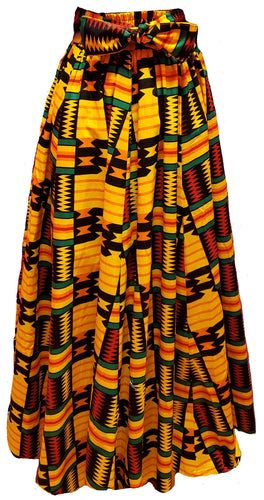 Kelly Maxi Ankara Wax Cotton Skirt - CeCe Fashion Boutique