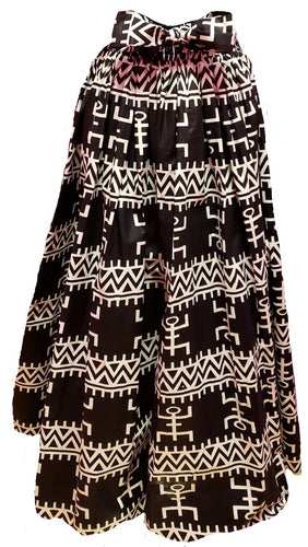 Ashley Maxi Ankara Wax Cotton Skirt - CeCe Fashion Boutique