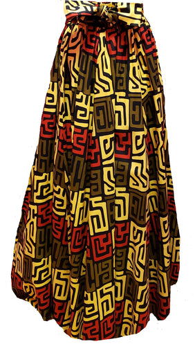 Chezka Maxi Ankara Wax Cotton Skirt - CeCe Fashion Boutique