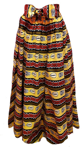 Hazzell Maxi Ankara Wax Cotton Skirt - CeCe Fashion Boutique