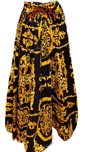 Zari Maxi Ankara Wax Cotton Skirt - CeCe Fashion Boutique