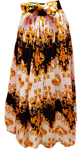 Barbra Maxi Ankara Wax Cotton Skirt - CeCe Fashion Boutique
