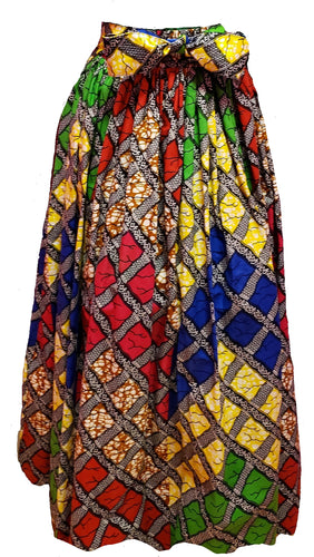 Destiny Maxi Ankara Wax Cotton Skirt - CeCe Fashion Boutique