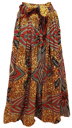 Yarra Maxi Ankara Wax Cotton Skirt - CeCe Fashion Boutique