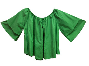 """Green"" Solid Cotton Top - CeCe Fashion Boutique"