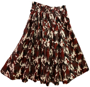 Cami Midi Ankara Wax Cotton Skirt - CeCe Fashion Boutique