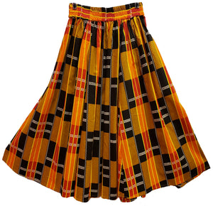 Tia Midi Ankara Wax Cotton Skirt - CeCe Fashion Boutique