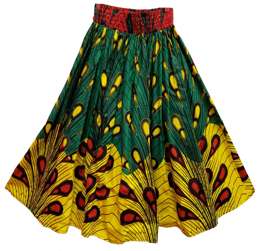 Mika Midi Ankara Wax Cotton Skirt - CeCe Fashion Boutique