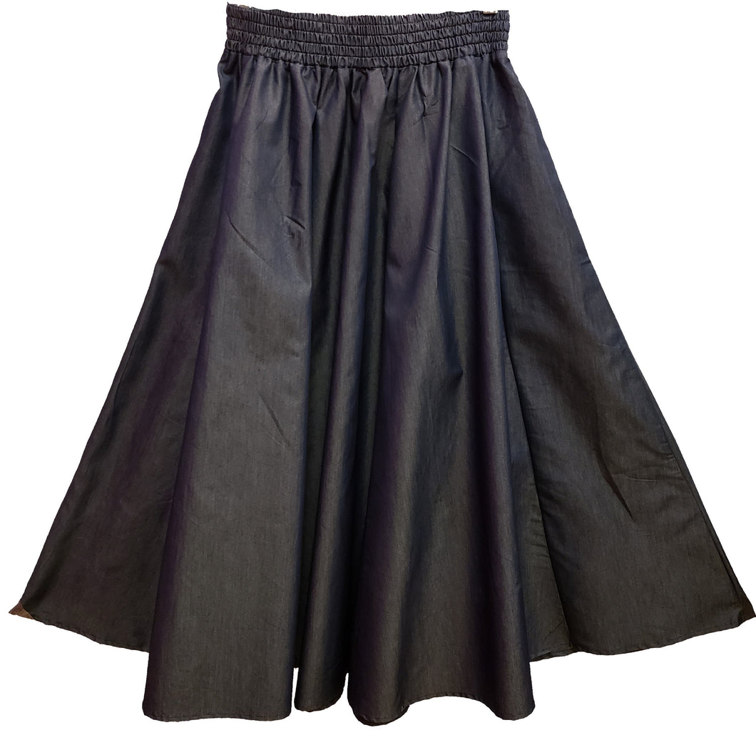 Solid Midi Skirt - Charcoal - CeCe Fashion Boutique