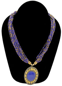 Handmade Multi-Strand Royal Blue Necklace - CeCe Fashion Boutique