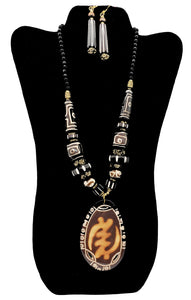 African Necklace & Earrings Set - 1 - CeCe Fashion Boutique