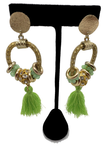 Boho Gold Dangle Earrings with Tassels - CeCe Fashion Boutique