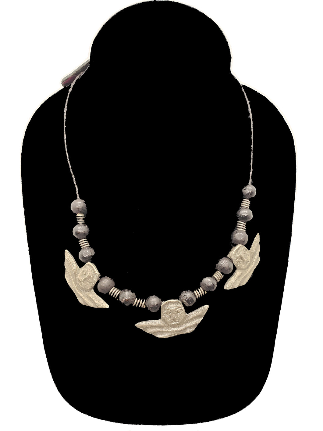 Authentic Leather / Bronze Necklace - 5 - CeCe Fashion Boutique