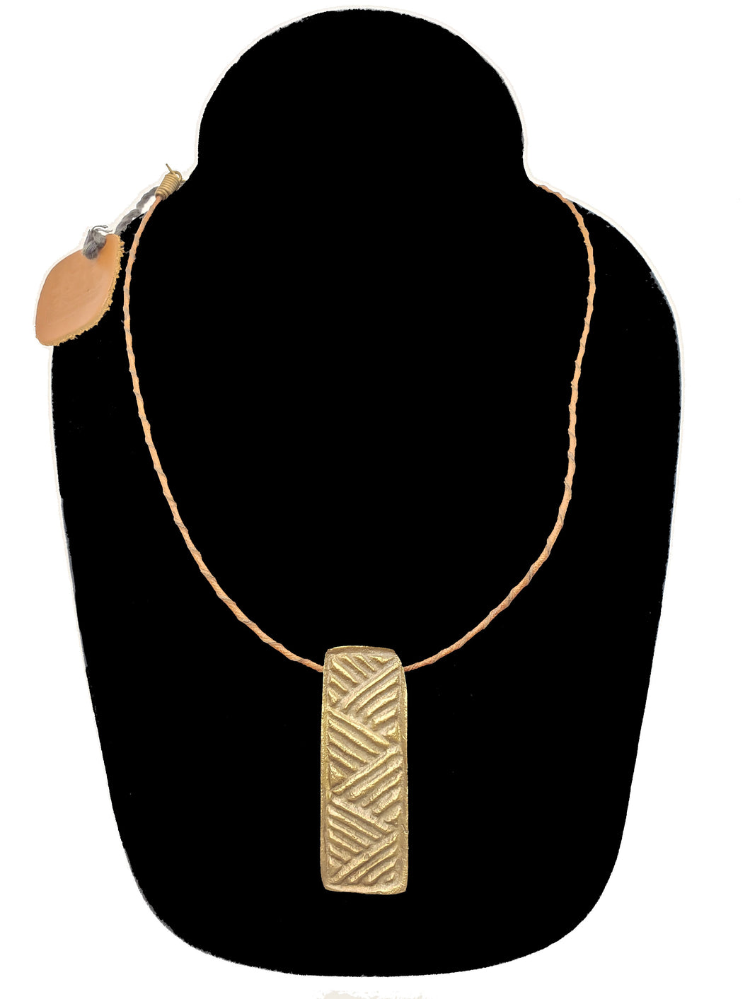 Authentic Leather / Bronze Necklace - 6 - CeCe Fashion Boutique