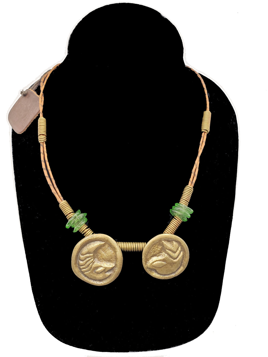 Authentic Leather / Bronze Necklace - 11 - CeCe Fashion Boutique