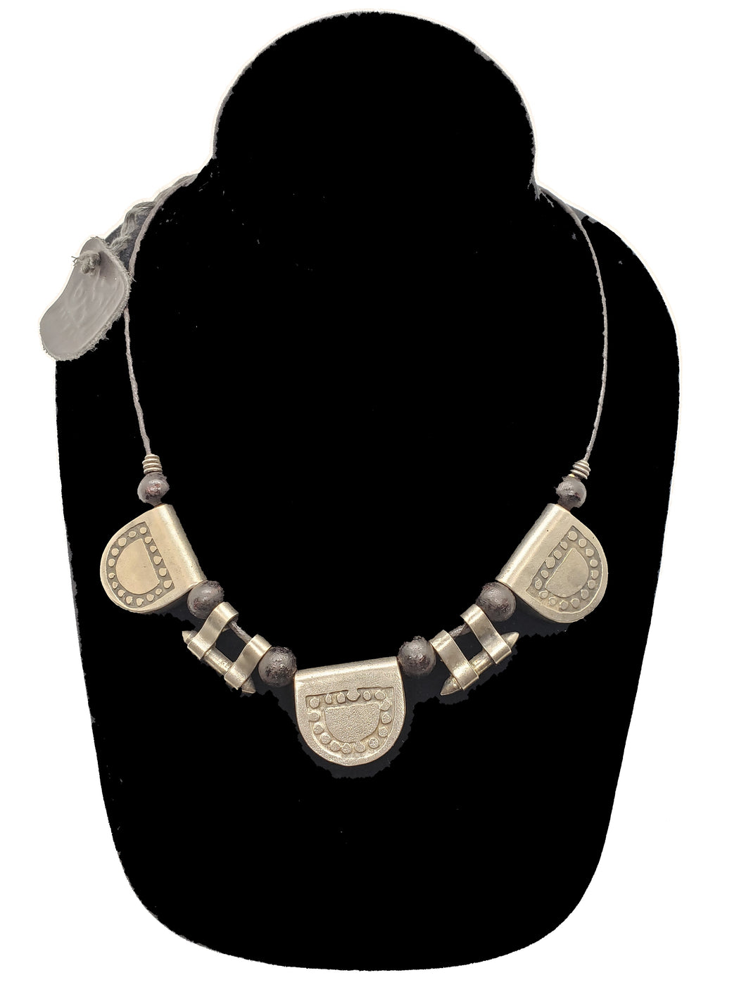 Authentic Leather / Bronze Necklace - 12 - CeCe Fashion Boutique