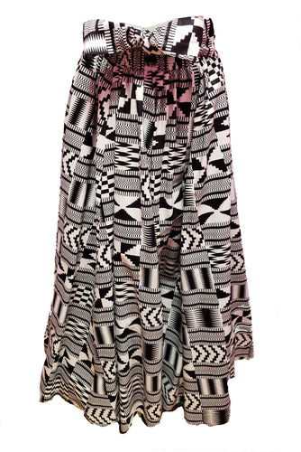 Bianca Maxi Ankara Wax Cotton Skirt - CeCe Fashion Boutique