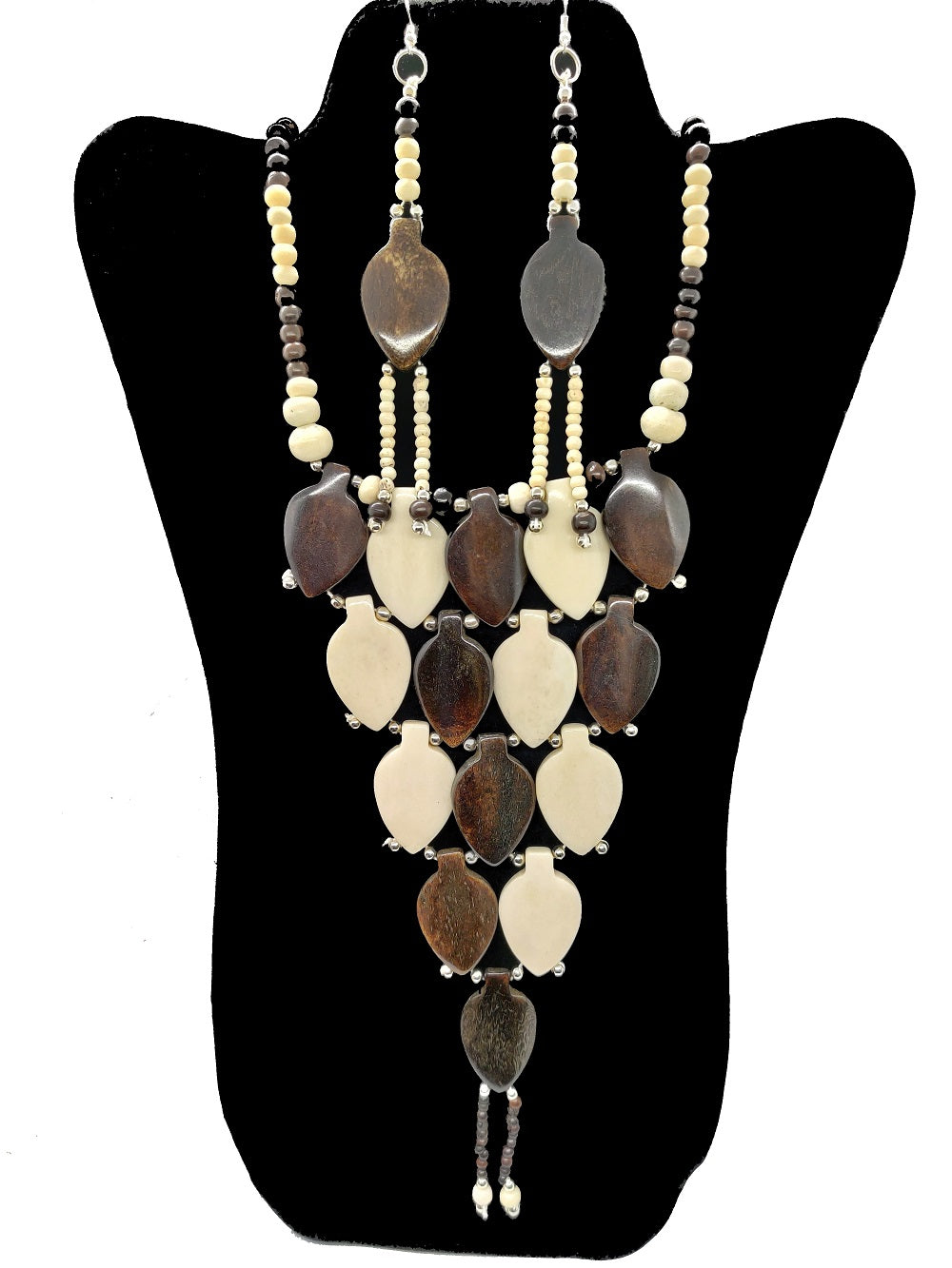 African Beaded Necklace & Earrings Set - CeCe Fashion Boutique