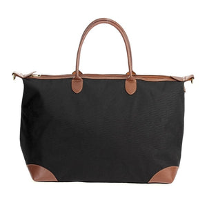 Black Coated Nylon Duffel - CeCe Fashion Boutique