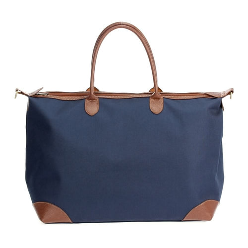Navy Coated Nylon Duffel - CeCe Fashion Boutique