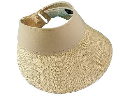 Visor Straw Hat - Beige - CeCe Fashion Boutique