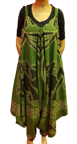 Jumpsuit with Pockets - Elephant (Green) - CeCe Fashion Boutique