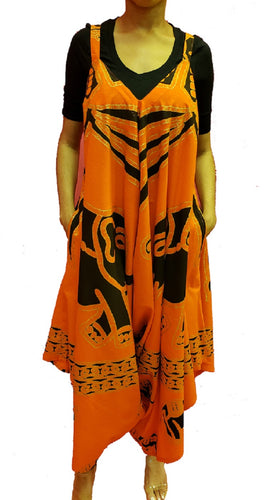 Jumpsuit with Pockets - Elephant (Orange) - CeCe Fashion Boutique