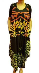 Jumpsuit with Pockets - Rasta Print A - CeCe Fashion Boutique
