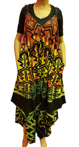 Jumpsuit with Pockets - Rasta Print D - CeCe Fashion Boutique