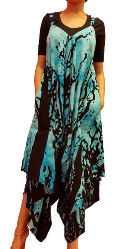 Jumpsuit with Pockets - Tree Print (Blue) - CeCe Fashion Boutique