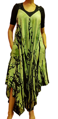 Jumpsuit with Pockets - Tree Print (Green) - CeCe Fashion Boutique