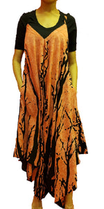 Jumpsuit with Pockets - Tree Print (Rust) - CeCe Fashion Boutique