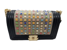 Load image into Gallery viewer, Black CrossBody With Multicolor Stones - CeCe Fashion Boutique
