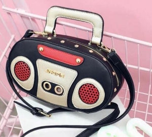 Boombox Design Crossbody Novelty Bag - CeCe Fashion Boutique