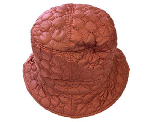 Solid Color Quilted Bucket Hat - Red - CeCe Fashion Boutique