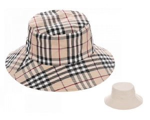Plaid Pattern Reversible Bucket Hat (2 Colors) - CeCe Fashion Boutique