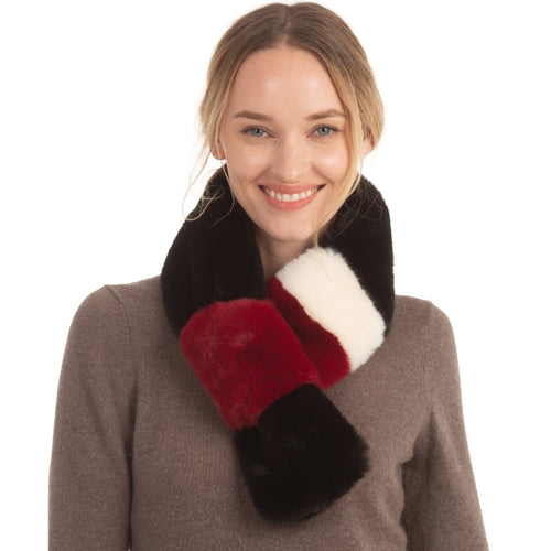 Tri-tone Faux Fur Scarf - CeCe Fashion Boutique