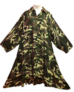 Tunic / Dress - Camo Print (A) - CeCe Fashion Boutique