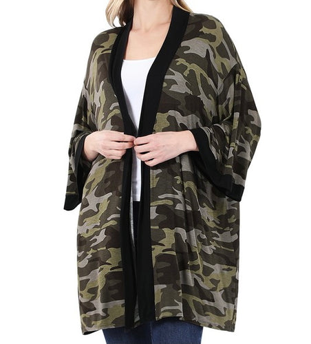 Camouflage Print Cardigan - CeCe Fashion Boutique