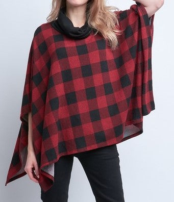 Mommy and Me Checkered Poncho (Adult) - CeCe Fashion Boutique