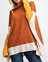 Load image into Gallery viewer, Oversized Poncho Style Turtle Neck Top - CeCe Fashion Boutique